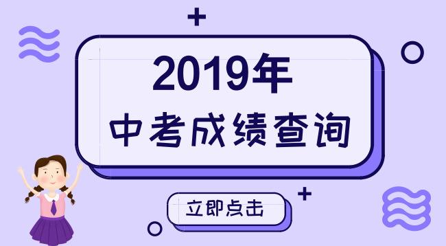 2019年中考成绩查询